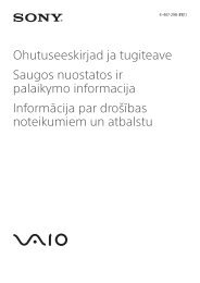 Sony VPCZ23K9E - VPCZ23K9E Documenti garanzia Ucraino