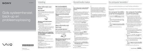 Sony VPCZ23K9E - VPCZ23K9E Guida alla risoluzione dei problemi Olandese
