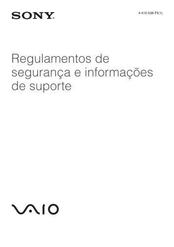 Sony VPCZ23K9E - VPCZ23K9E Documenti garanzia Portoghese