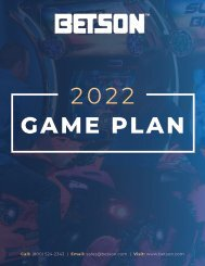 Betson Game Plan September 2021