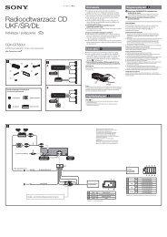 Sony CDX-GT550UI - CDX-GT550UI Guide d'installation Polonais