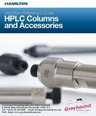 Hamilton HPLC 2018