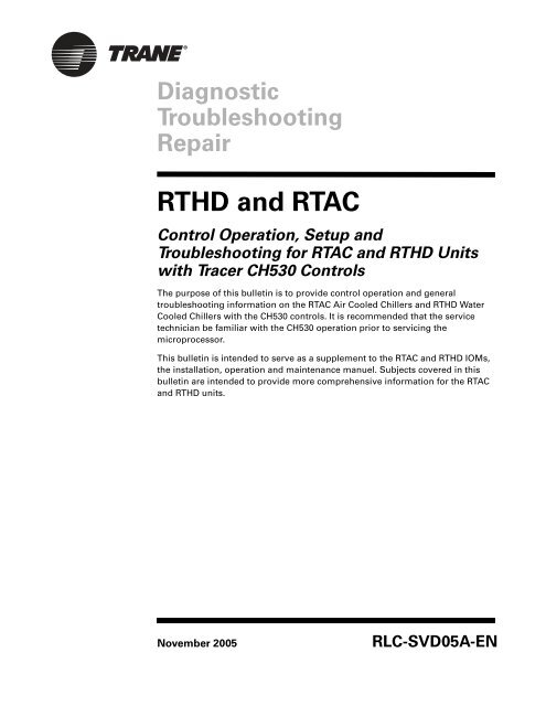 chiller starter wiring diagram rthd and rtac trane  rthd and rtac trane