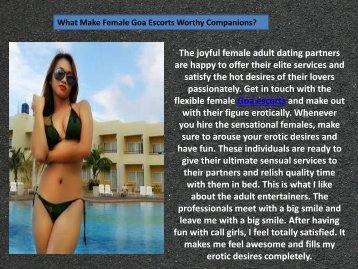 Goa escorts, most demanding Goa call girls services
