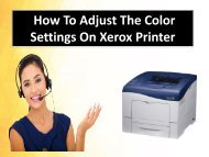 How To Adjust The Color Settings On Xerox Printer