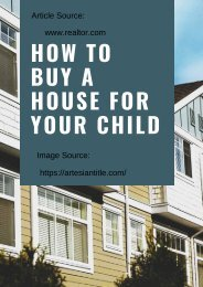 How to Buy a House for Your Child