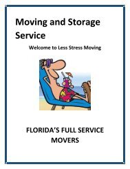 Moving And Storage Service - Less Stress Moving