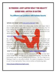 Kolkata call girls | Escorts in Kolkata | Kolkata Escorts | Call girls in Kolkata
