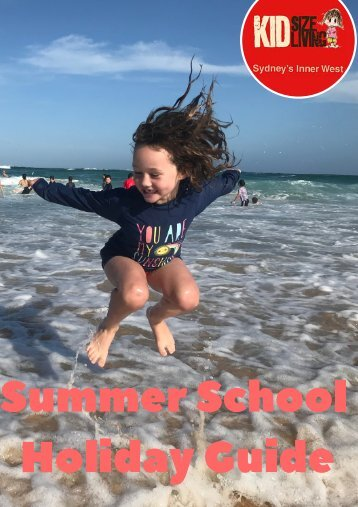 KIDsize Living Inner West Summer School Holiday 2018