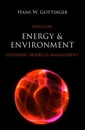 Hans W. Gottinger, Essays on Energy & Environment: Economic Models & Management