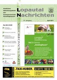 Lopautal Nachrichten 04/2011 - Amelinghausen