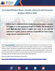 Corn Seed Market Share, Growth, Demand and Forecasts Analysis 2018 to 2025