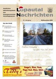Lopautal Nachrichten 01/2010 - Amelinghausen