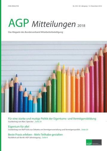AGP Mitteilungen 2018