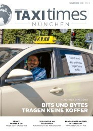 Taxi Times München -  November 2018