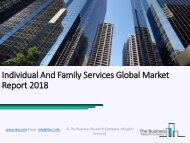 Individual And Family Services Global Market Report 2018