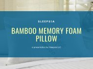 Sleepsia Bamboo Memory Foam Pillow