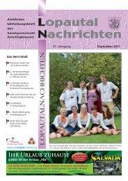 Lopautal Nachrichten 09/2011 - Amelinghausen