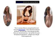 Goa Escorts Services by Lavanya Menon