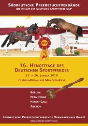 Hengsttage des Deutschen Sportpferdes - Körkatalog 2019