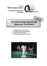 Controlling Vertriebssteuerung mit der Balanced Scorecard