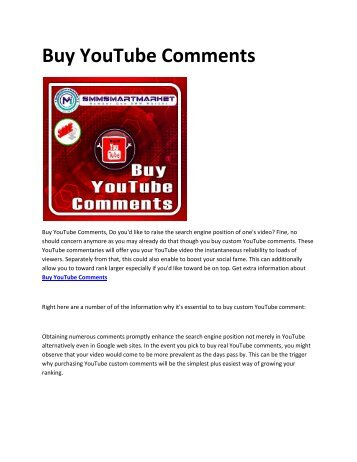 6 Buy YouTube Comments