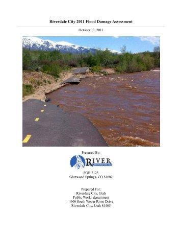 Weber River Flood Damage Assessment - Riverdale City