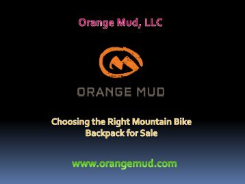 Choosing the Right Mountain Bike Backpack for Sale