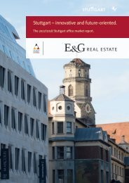 E & G Real Estate office market report Stuttgart 2017-2018