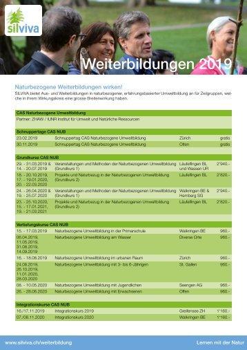 SILVIVA Jahresprogramm 2019