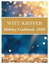 Witt/Kieffer Holiday Cookbook 2018