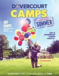 Dovercourt Summer Camps 2019