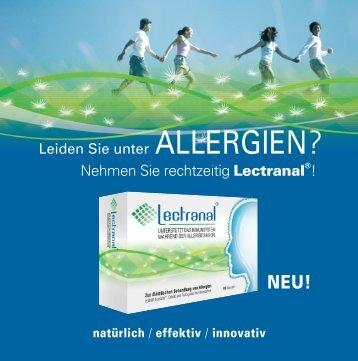 Nehmen Sie rechtzeitig Lectranal ! - Polleninfo.org