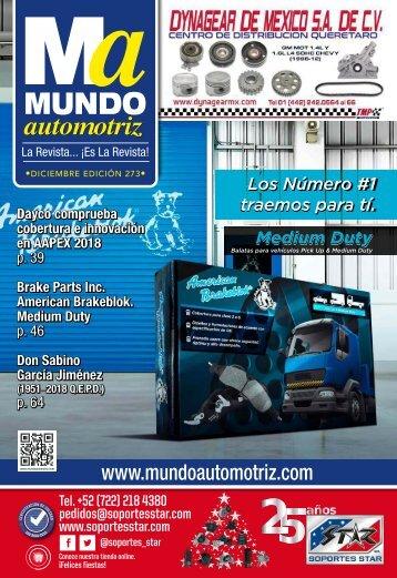 MUNDO AUTOMOTRIZ No. 273 DICIEMBRE 2018