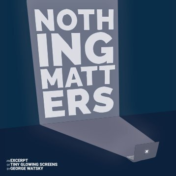 Nothing Matters Zine