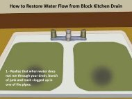How to Restore Water Flow from Block Kitchen Drain