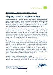 Polymere mit elektronischen Funktionen - Engel Austria