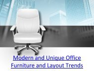 Modern and unique office furniture