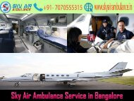 Pick Sky Air Ambulance with Medical Setup in Bangalore
