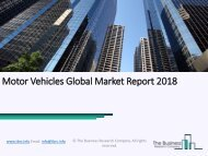 Motor Vehicles Global Market Report 2018