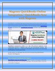 1-800-796-0471 Magento QuickBooks Online Integration - QuickBooks Sync with Magento