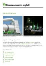 Asphaltmischanlage - Thomas Gruppe