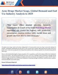 Acne Drugs Market Scope, Global Demand and End Use Industry Analysis to 2025
