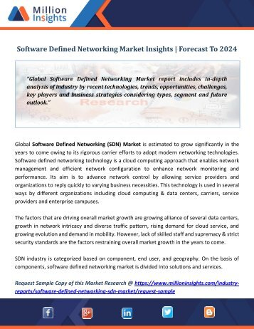 Software Defined Networking Market Insights  Forecast To 2024