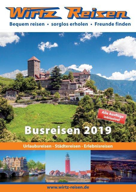 Wirtz Reisen Sommer 2019