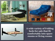 A wide variety of Folding beds for sale that fit comfortably into spare rooms or living rooms