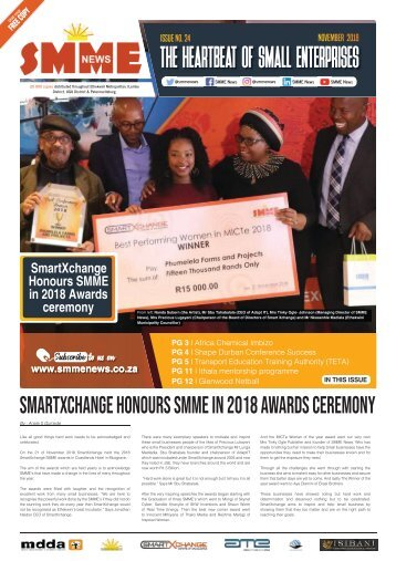 SMME NEWS - NOVEMBER 2018 ISSUE
