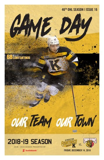 Kingston Frontenacs GameDay December 14, 2018