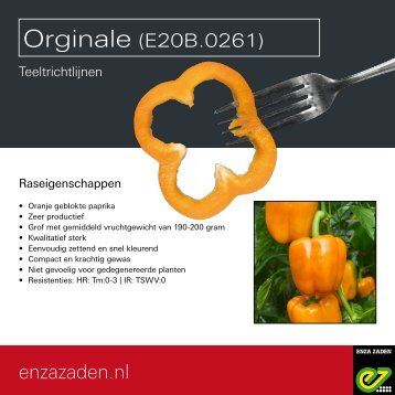 Teeltrichtlijnen E20B.0261