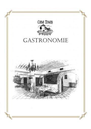 Casa Timis - Meniu Gastronomie Crama